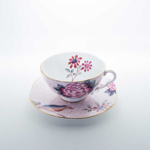 Refresh Moment Wedgwood Cuckoo Pink Teacup & Saucer
