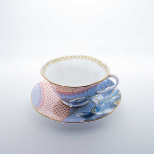 Refresh Moment Wedgwood Butterfly Bloom Blue Peony Teacup & Saucer