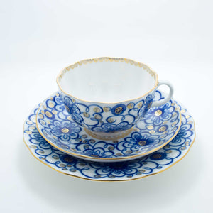 Refresh Moment Imperial Porcelain St. Petersburg 1744 The Winding Twigs Teacup and Saucer