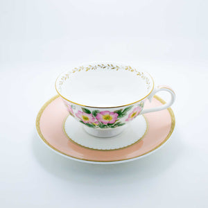Refresh Moment Narumi Floral Peach Teacup and Saucer