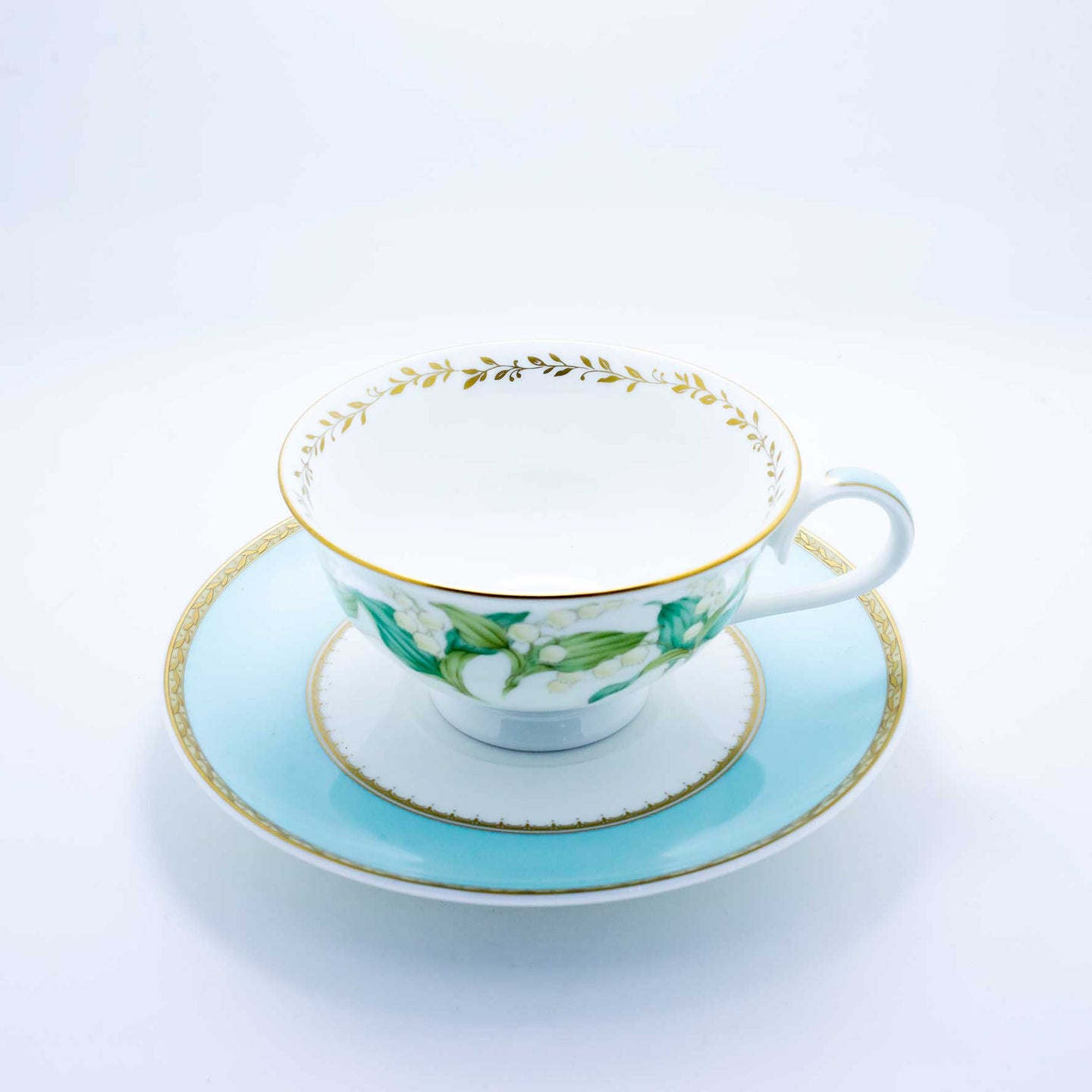 Refresh Moment Narumi Mint Leaves Teacup and Saucer