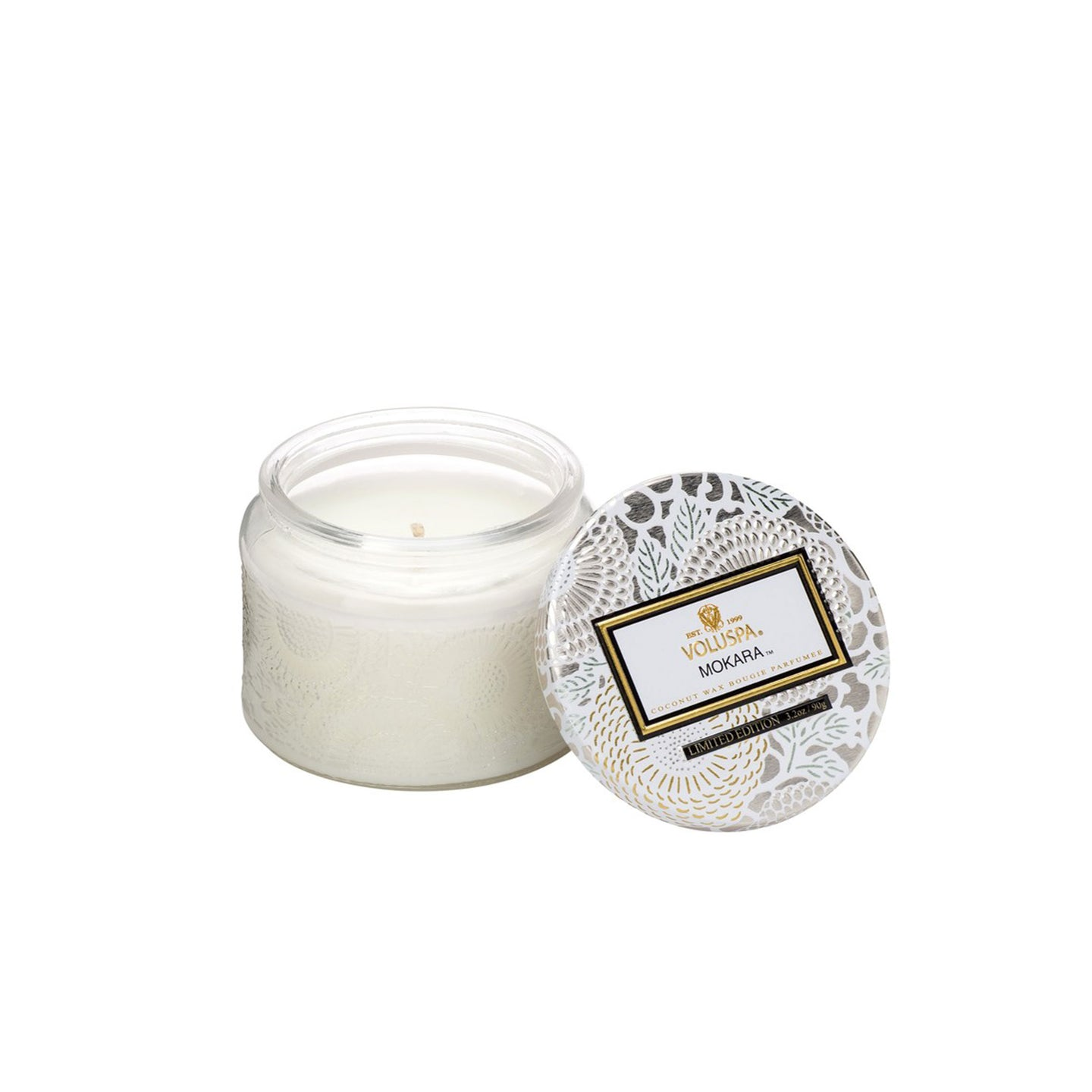 Refresh Moment Voluspa Mokara Petite Embossed Glass Jar