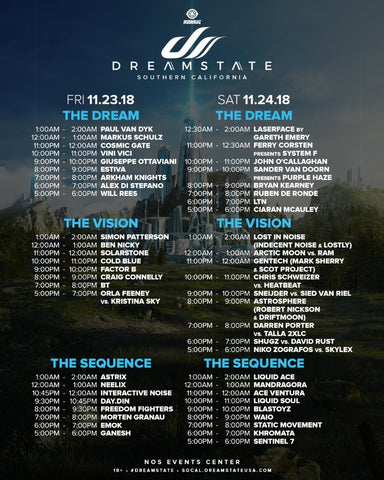 dreamstate socal 2018 artist set times