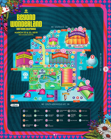 Beyond Wonderland 2019 Festival Map