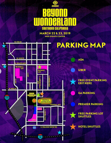 Beyond Wonderland 2019 Parking Map