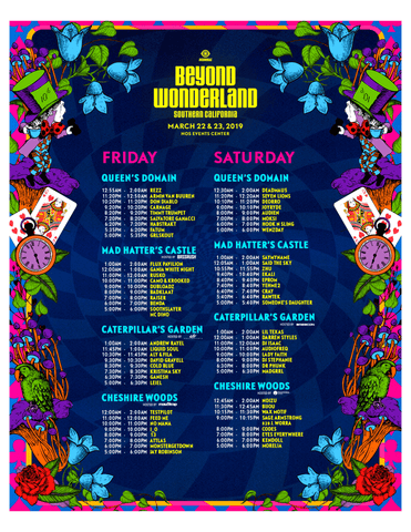 Beyond Wonderland 2019 Official Set Times