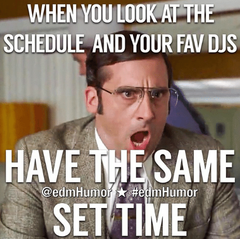 decadence arizona 2019 lineup is fire - office meme when your favorite edm artists play at the same time