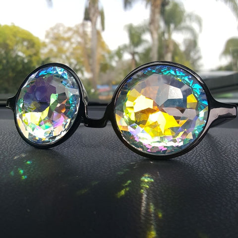 what kaleidoscope diffraction glasses goggles look like