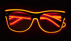 red elwire diffraction glasses light up led