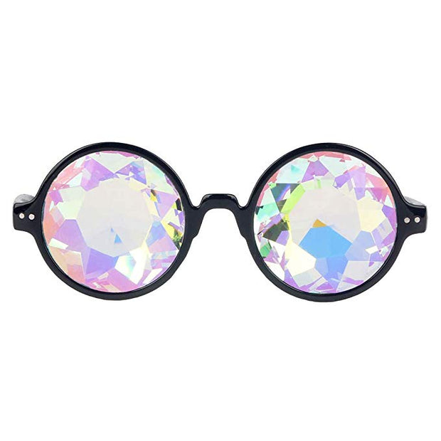 Kaleidoscope Glasses Round Frame - Black