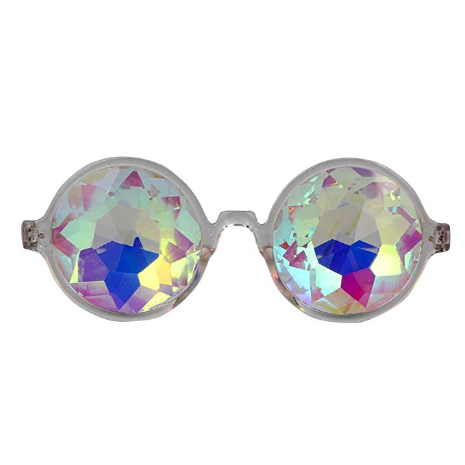 Kaleidoscope Glasses Round Frame - Clear