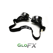 GloFX Silver Chrome Kaleidoscope Padded Goggles