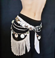 Gypsie-Style Sequin Belt Skirt