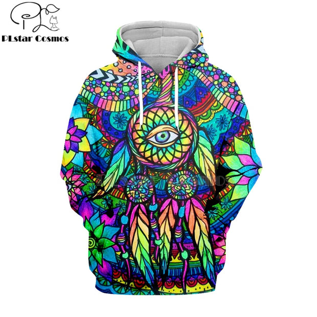 Mosaic Eye Feather Hoodie