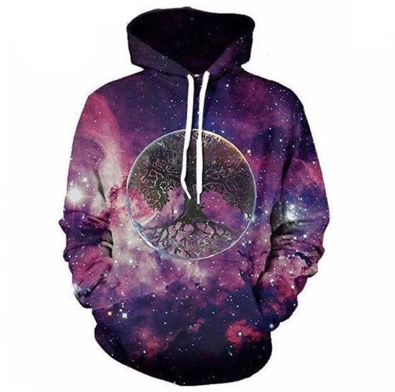Tree and Galaxy Hoodie