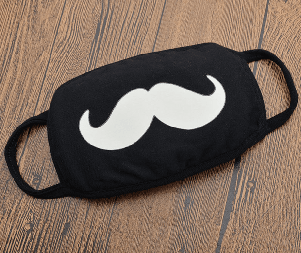 Black Mustache Face Mask