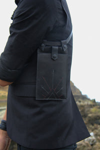 Simple and elegant harness holster bag for men