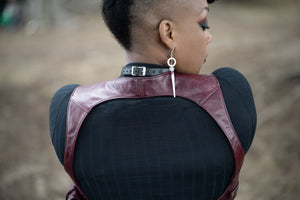 Oxblood Criss Cross Harness with Holster Pouch