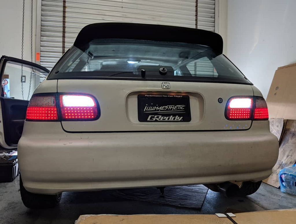 honda civic eg6 oem led tail lights oniglow. Black Bedroom Furniture Sets. Home Design Ideas