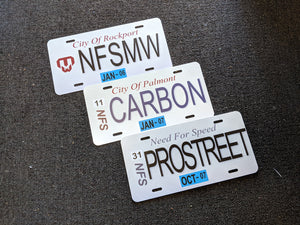 Need For Speed Replica Plates