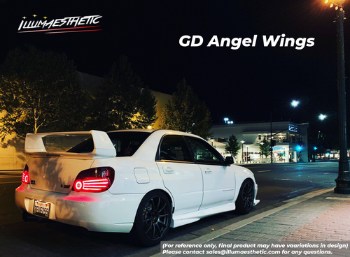 Subaru Impreza Blobeye Sedan (GD, 04-05) Angel Wings - Complete DIY Kit