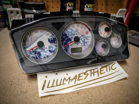 Illumaesthetic Evo 8/9 Gauge Faces