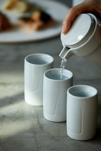DOUBLE WALL SAKE CUP 「White glaze SET」