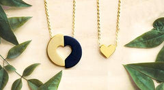 eden committed necklace black and gold ethical jewellery gifts