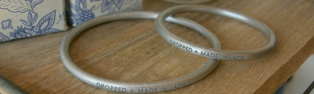 dropped and made in laos bangles from article 22 - fair trade ethical