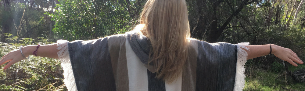 fair trade alpaca wool poncho - ethical fashion