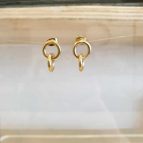 Kumi Mini Hoop Stud Earrings - The Fair Trader