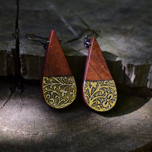Earth and Fire Earrings - Teardrop - The Fair Trader