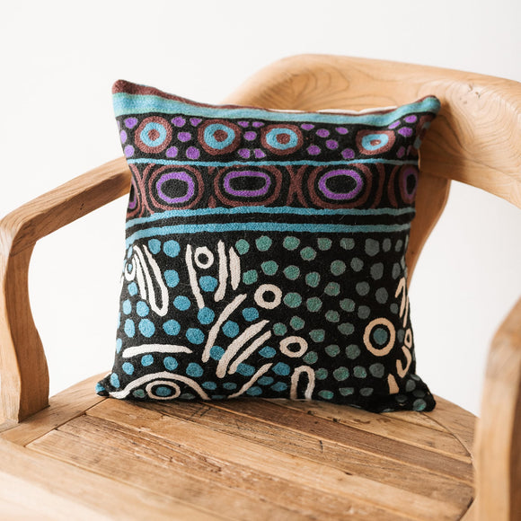 Julie Woods Wool Cushion - The Fair Trader