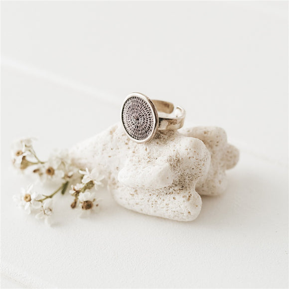 Classic Silver Ring - Smokey - The Fair Trader