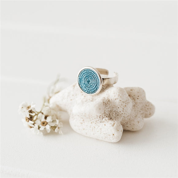 Classic Silver Ring - Denim - The Fair Trader