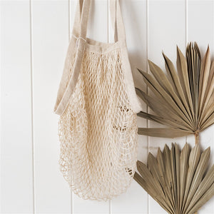 Organic Cotton Expandable String Bag - The Fair Trader