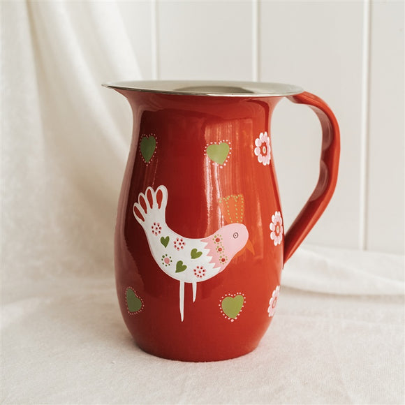 Red Ida The Chicken Steel Jug
