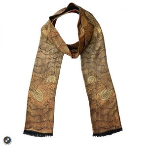 Damien and Yilpi Marks 'Sandhills' Fine Modal Scarf - The Fair Trader