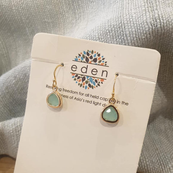 Threads of Joy Earrings - Turquoise - The Fair Trader