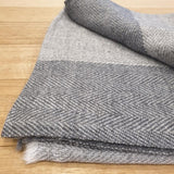 Herringbone Cashmere Pashmina - Pale Grey - The Fair Trader