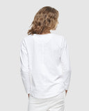 Crew Neck Long Sleeve - White - The Fair Trader