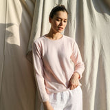 Alpaca Wool Rollo Long Sleeve Knit - Pink - The Fair Trader