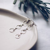 Newfound Three Drops Earrings - Silver