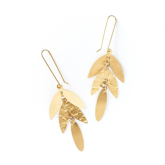 Chameli Earrings - Leaf Drop - The Fair Trader