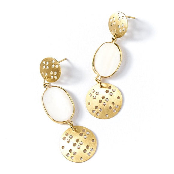 Dhavala Earrings - Gold Drop - The Fair Trader