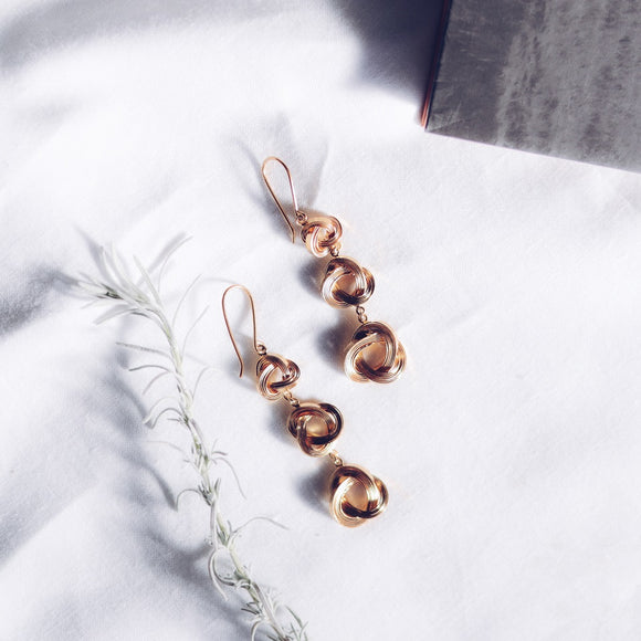 Three Lucky Knots Earrings - The Fair Trader