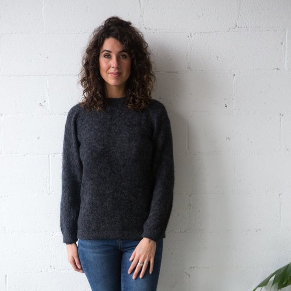 Alpaca Wool Classic Jumpers - Charcoal