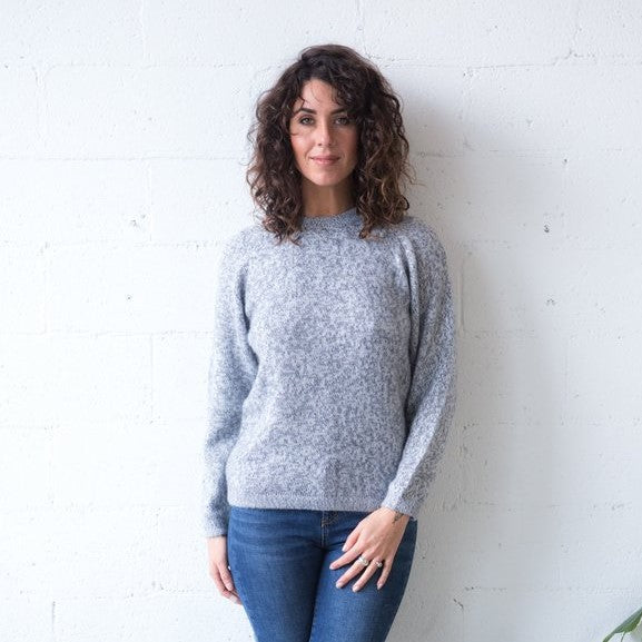 Alpaca Wool Classic Jumpers - Grey Marle - The Fair Trader