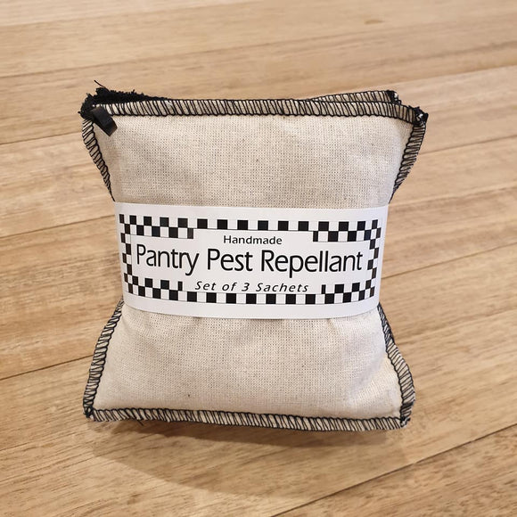 Pantry Pest Repellant Sachets - Cream and Black - The Fair Trader