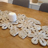Leaf and Flower Jute Table Runner - Natural